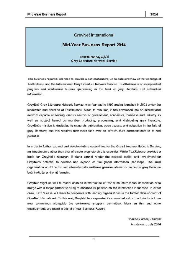 Mid-Year Business Report 2014