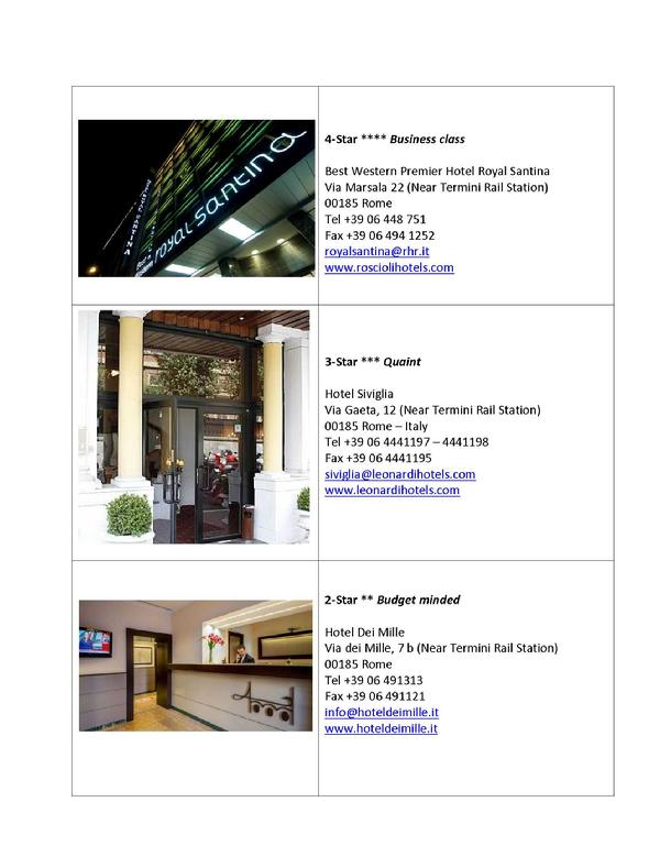 GL19 Recommended Hotels
